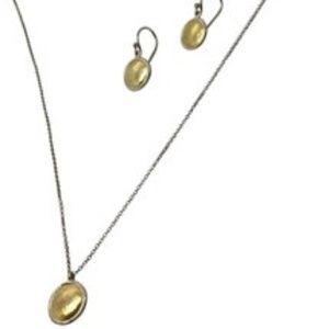 GURHAN sterling silver 24k necklace earrings